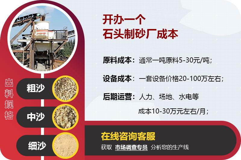 机制砂厂投资成本