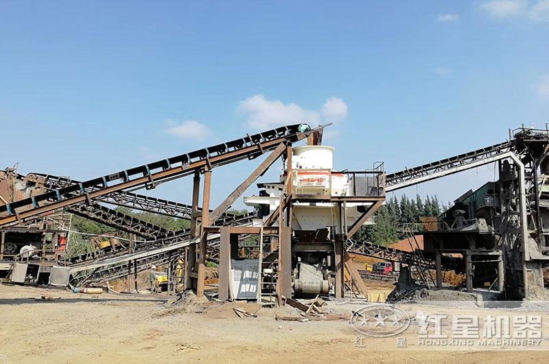 煤矸石制砂现场