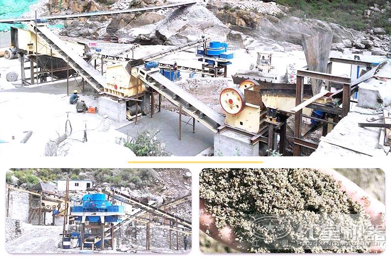 河卵石制砂现场